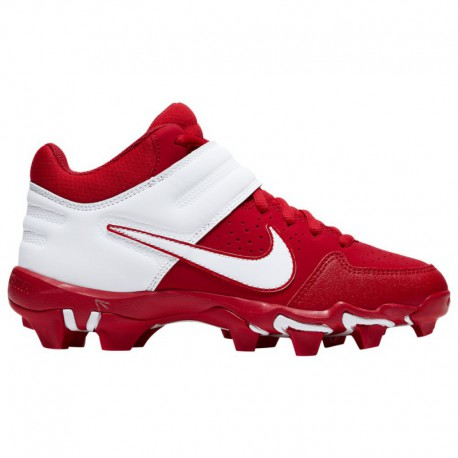 Nike Alpha Menace PRO MID Red Nike Alpha Huarache Varsity Mid Keystone - Boys' Grade School - Baseball - Shoes - University Red