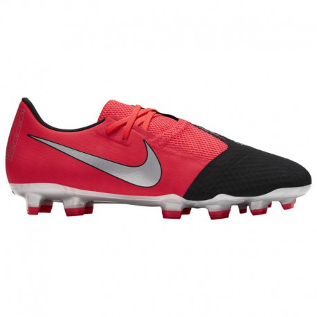 Nike Phantom Blue And Silver Nike Phantom Venom Academy FG - Men's - Soccer - Shoes - Laser Crimson/Metallic Silver/Black Laser