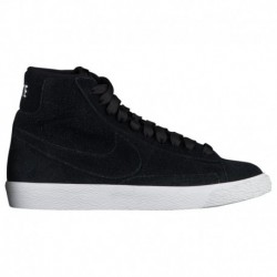Nike Blazer MID Rebel Summit White Nike Blazer Mid - Boys' Grade School - Casual - Shoes - Black/Black/Summit White Black/Black