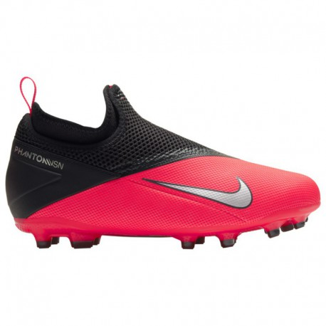 Nike Phantom Vision 2 Academy Nike Phantom Vision Academy DF FG/MG - Boys' Grade School - Soccer - Shoes - Laser Crimson/Metall